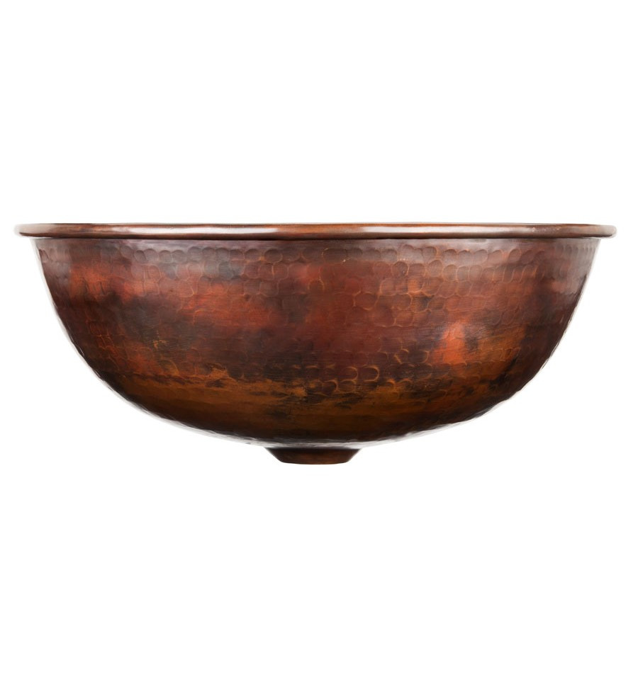Handcrafted Hammered Copper Bathroom Vessel Sink 08tho P 23 1223 Bc