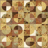 Maple Leaves Fuzzy Flannel Edge Quilt Pattern