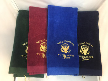 Golf Towel/ White House Embroidered