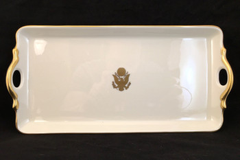 Pickard Gold Handled Desk Tray Great Seal
