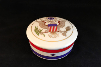 USA Great Seal Round Covered Box