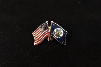 DOS/USA Flags Lapel Pin