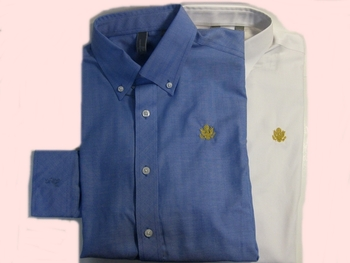 Ashworth Dress Shirt/Gold Great Seal Embroidered