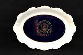 Pickard Cobalt Blue Large Oval Mint Dish PC-00026