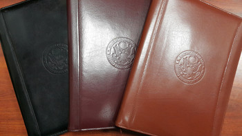 Zippered Genuine Leather Portfolio - DOS Logo