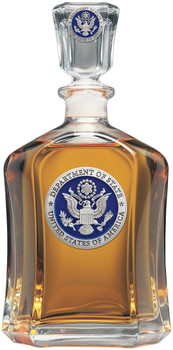 Department of State  Capitol DECANTER CHEST SET