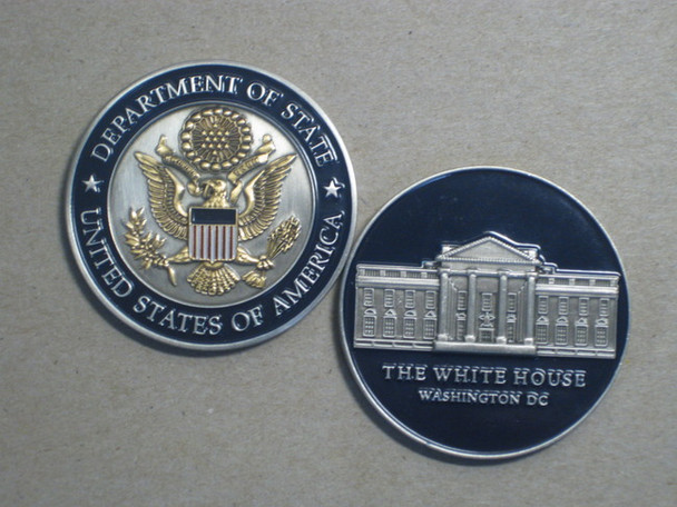 DOS Challenge Coin/White House in Presentation Box