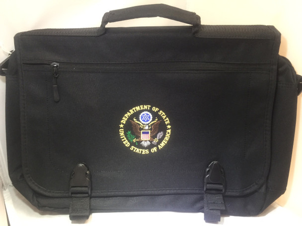 Expandable Briefcase/DOS Embroidered