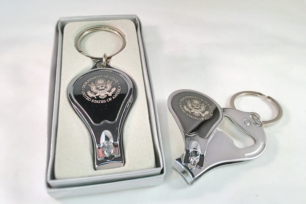 3 IN 1 Key Ring, Bottle Opener And Nail Clipper -DOS Logo