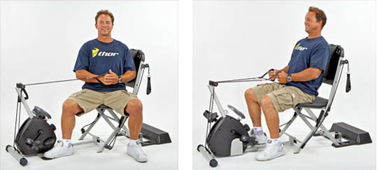 It comes with a set of Level 5 resistance cables and has an upright row bar for lateral pulls and rows. The digital meter shows time speed and burned ...  sc 1 st  Promolife & SmoothRider II Exercycle for Resistance Chair System