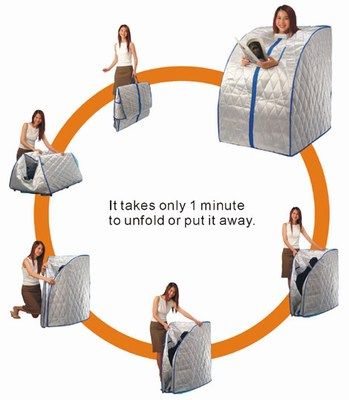 portable far infrared sauna with foot pad heater. Black Bedroom Furniture Sets. Home Design Ideas