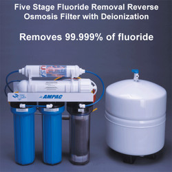 Five Stage Reverse Osmosis Filter with Deionization - Fluoride Removal
