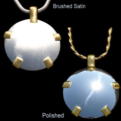 Sterling Silver BioElectric Shield with 14kt Gold Tabs