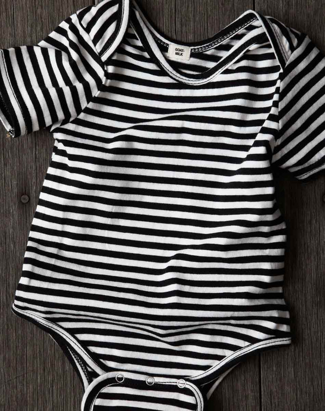 Short Sleeve Onesie (Striped)