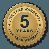 5 year warranty seal