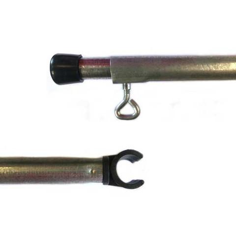 10Ft Adjustable Steel Round C-CLIP Pole