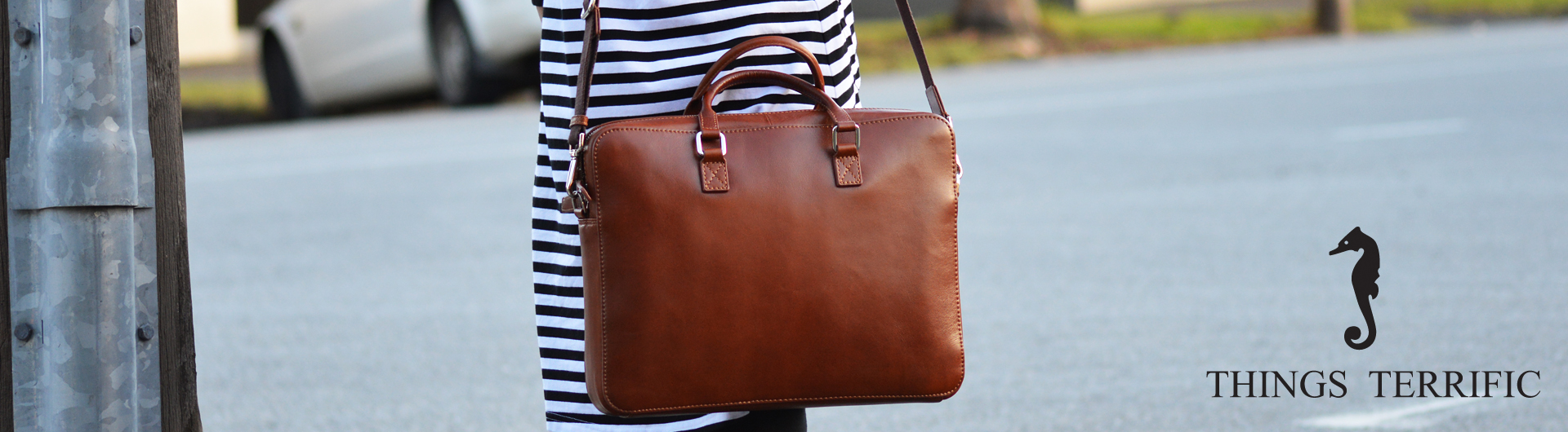 Things Terrific Leather Work Bag