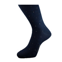 Mens Navy Blue Cotton Socks