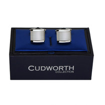 White Cats Eye Cufflinks