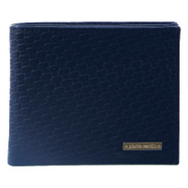 Navy Embossed Bifold Wallet