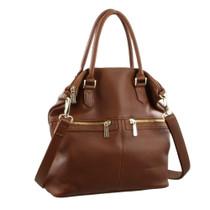 Cognac Shoulder Bag