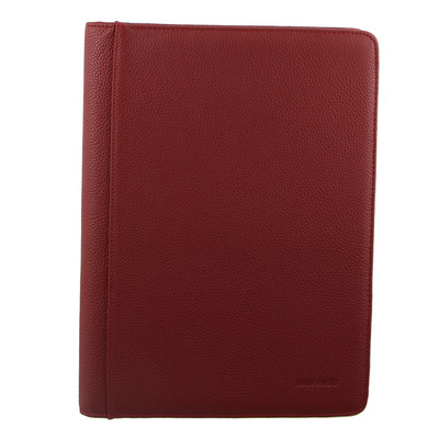 Pierre Cardin Red Leather Portfolio Closed