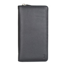 Black leather travel wallets