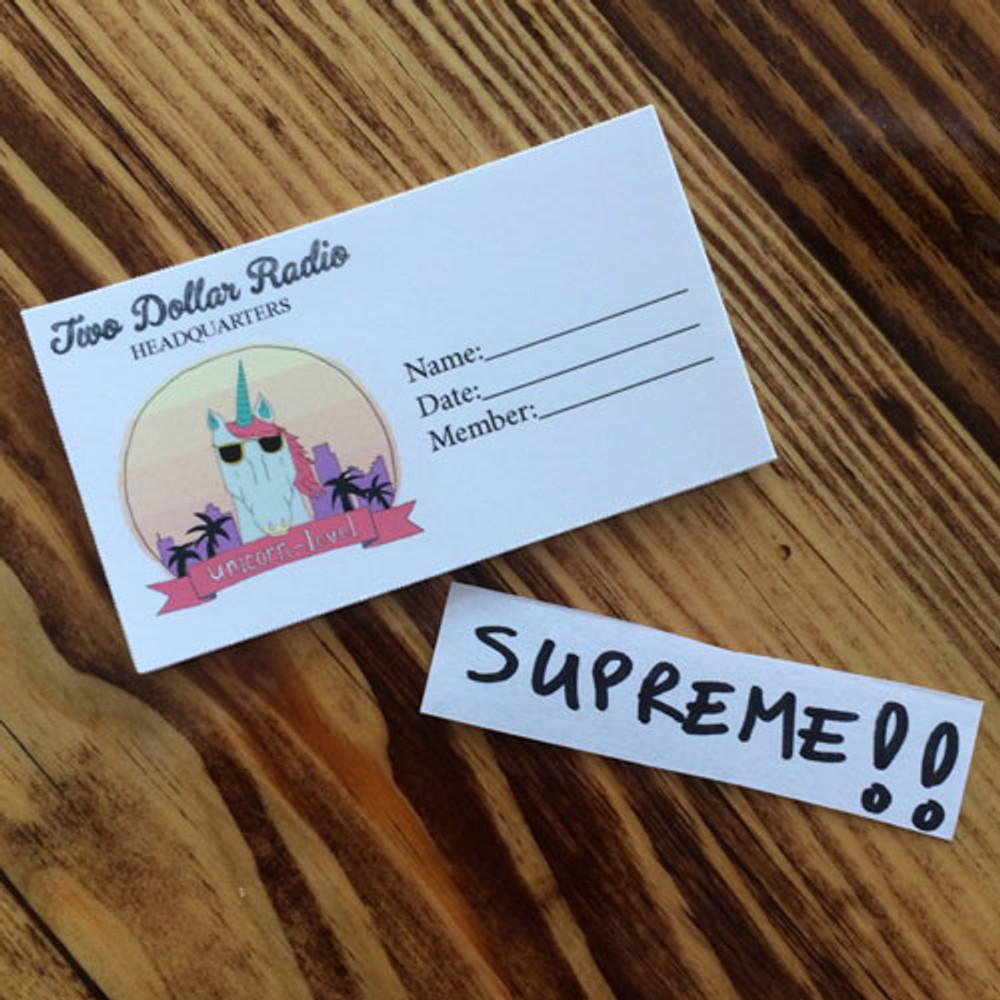 Two Dollar Radio Supreme Club Membership