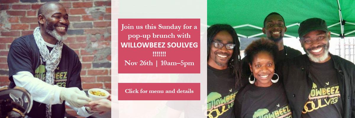Willowbeez SoulVeg vegan popup brunch
