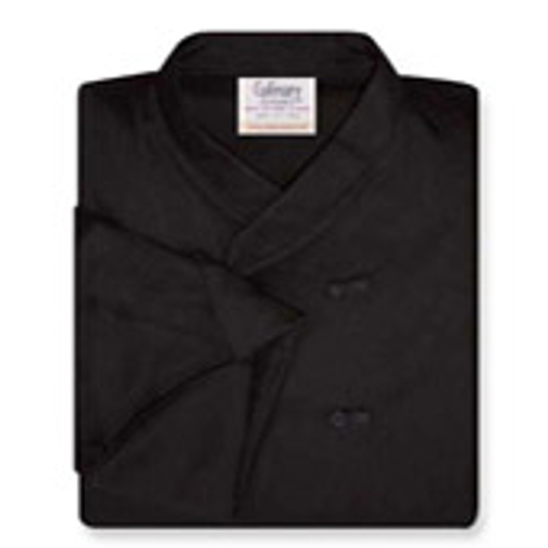 Women's Imperial Chef Coat in Black Poplin