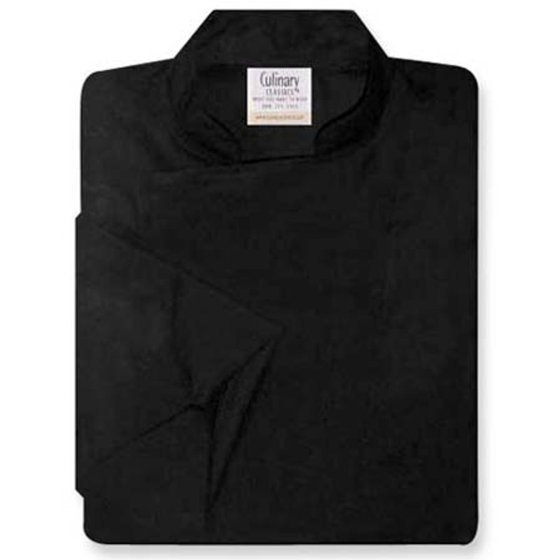 Epicurean Chef Coat in Black Egyptian Cotton