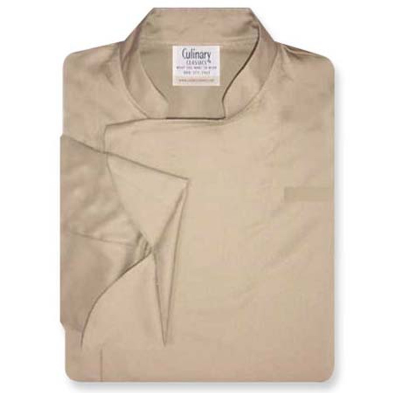 Epicurean Chef Coat in Khaki 100% Cotton Twill with Pockets