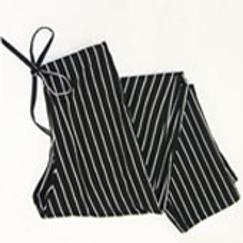 Scrub Chef Pants in 100% Cotton Black and White Pinstripe