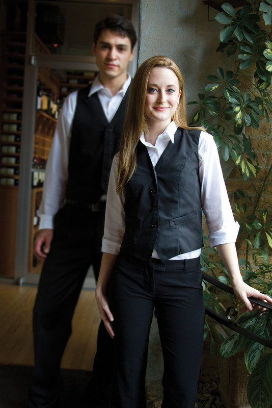 Women's Formal Restaurant Vest w/ Back Ties
