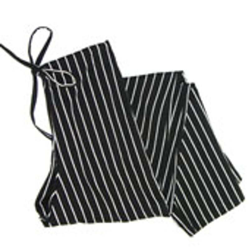 Women's Scrub Pants in Big Black & White Pinstripe
