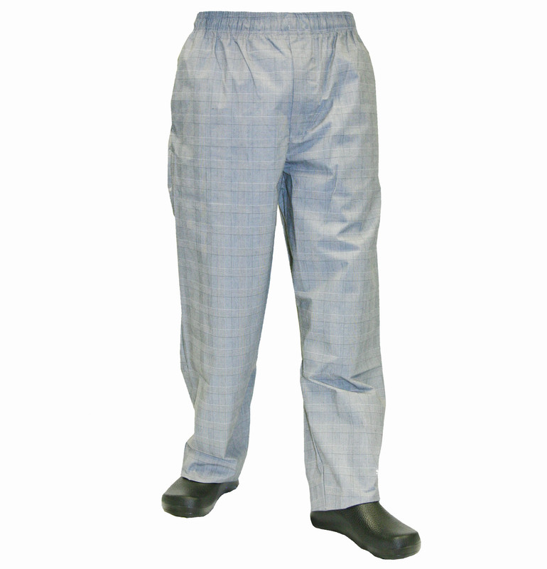 Baggy Chef Pants in Glen Plaid
