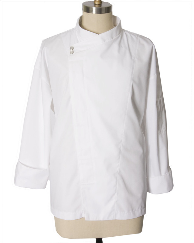 Montreal Chef Coat in White Fineline Twill
