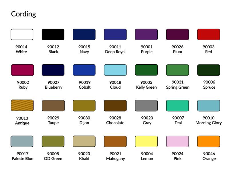 Cording Colors