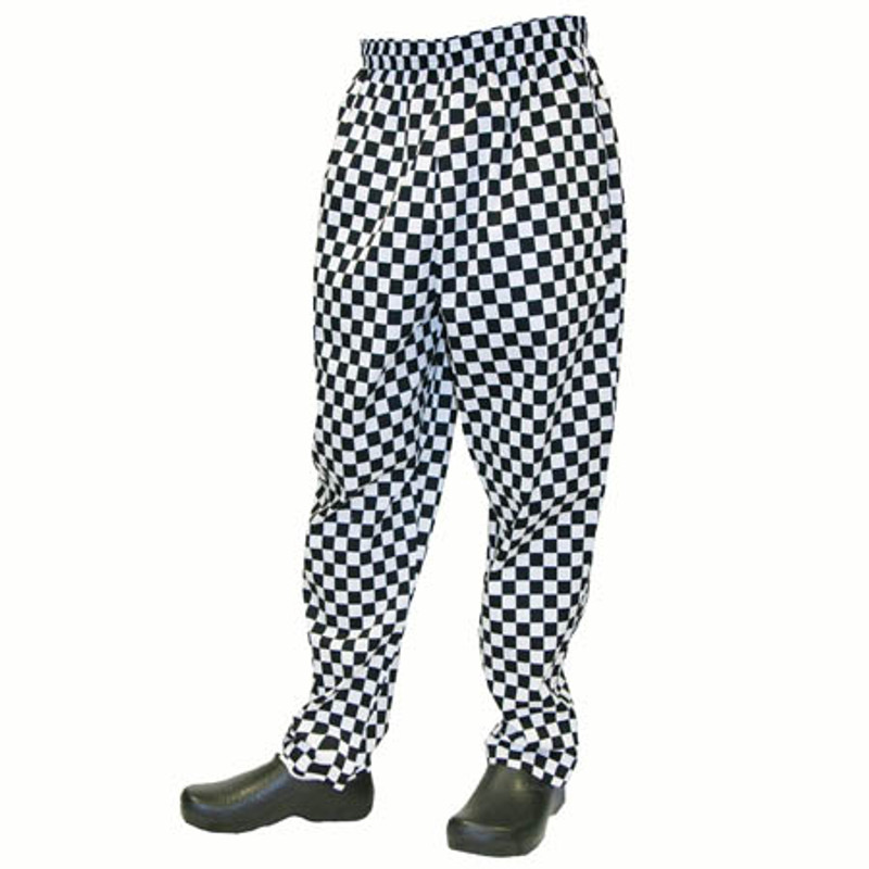 Baggy Chef Pants in Big Check