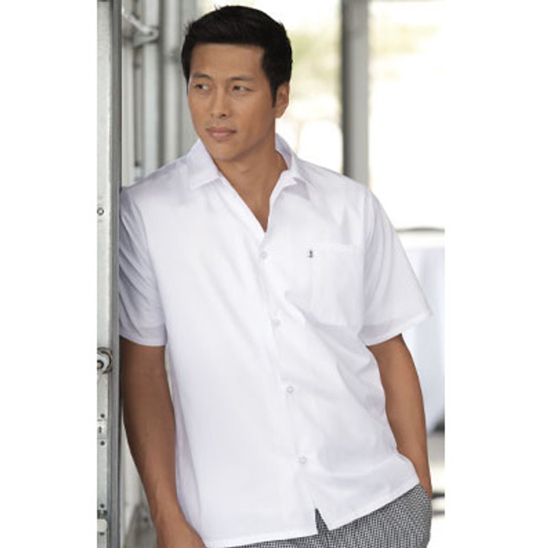 Utility Shirt in White Poplin
