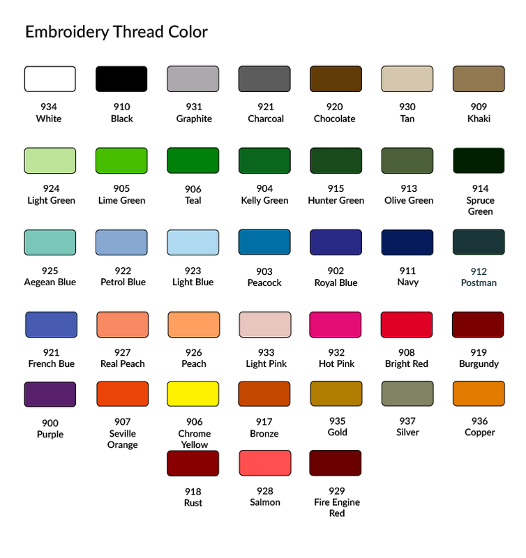 Embroidery Thread Color