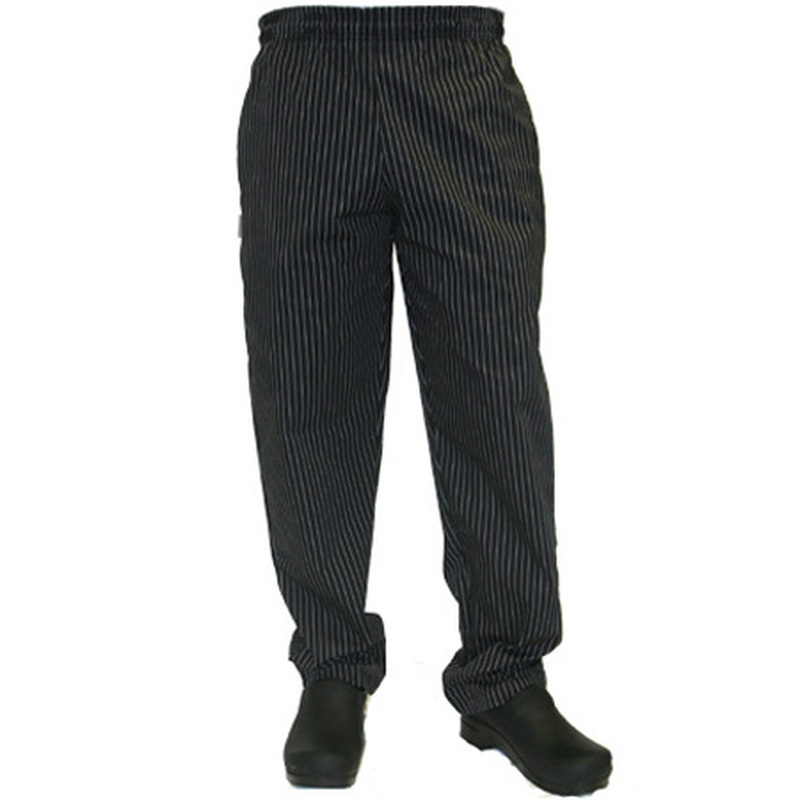 Classic Chef Pants in Black or Chocolate Pinstripe