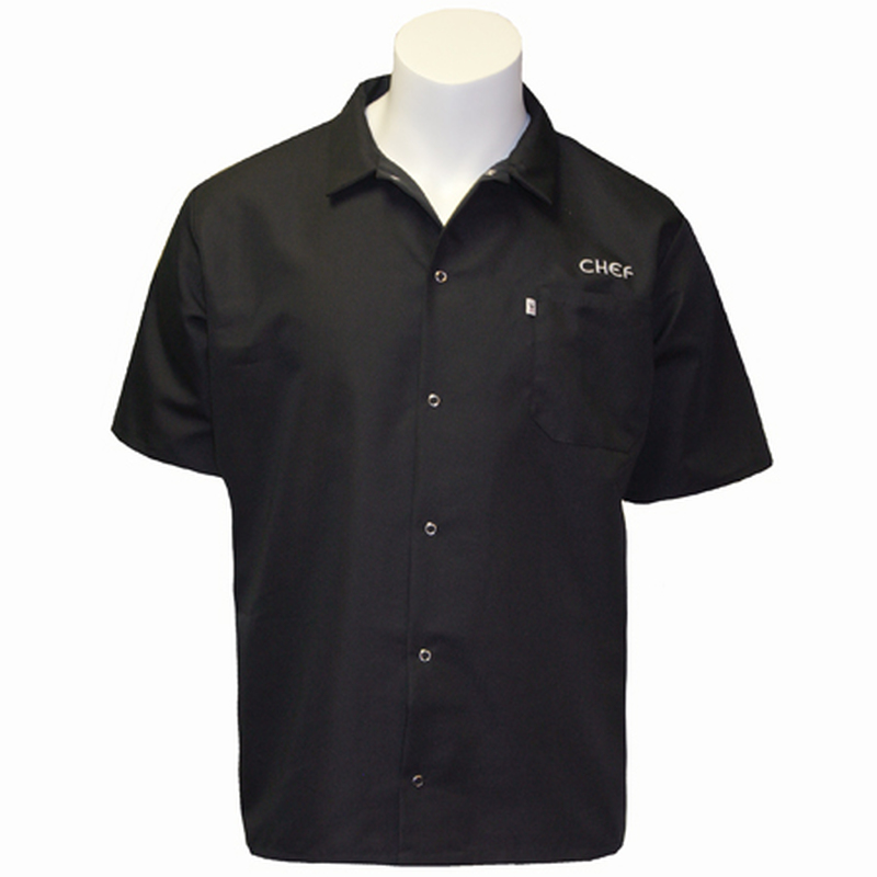 Cook Shirt with CHEF Embroidery in Black