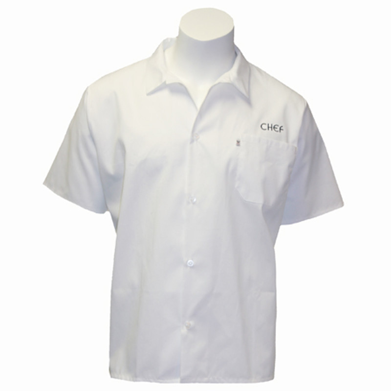 Cook Shirt in White with CHEF Embroidery