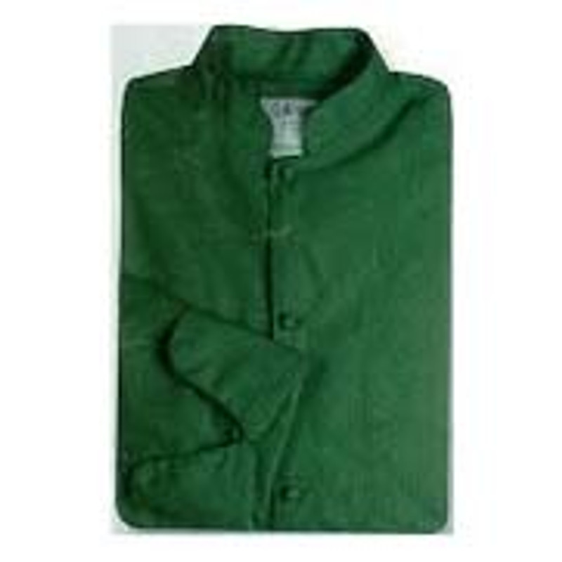 Mandarin Chef Coat in Hunter Green Poplin