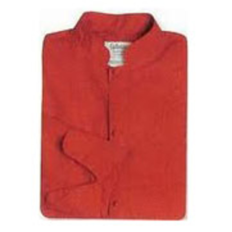 Mandarin Chef Coat in Bright Red Poplin