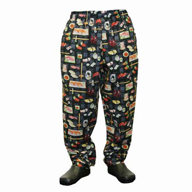 Baggy Chef Pants in 100% Cotton Patterns  - Many patterns to choose from