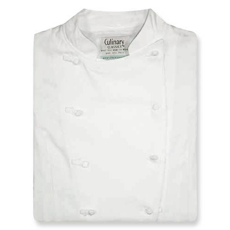 Women's Traditional Coat in White with Short Sleeves