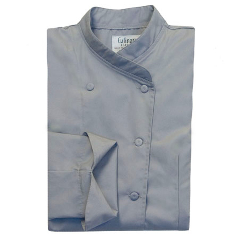 Women's Imperial Chef Coat in Graphite Poplin