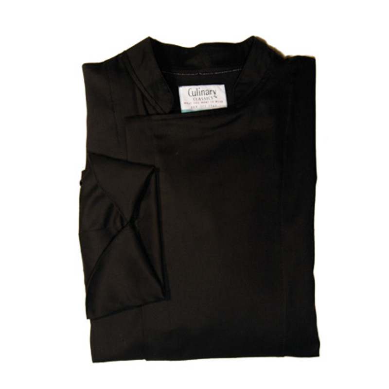 Epicurean Chef Coat in Black 100% Cotton Twill
